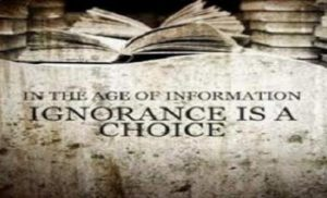 No Excuse for Ignorance